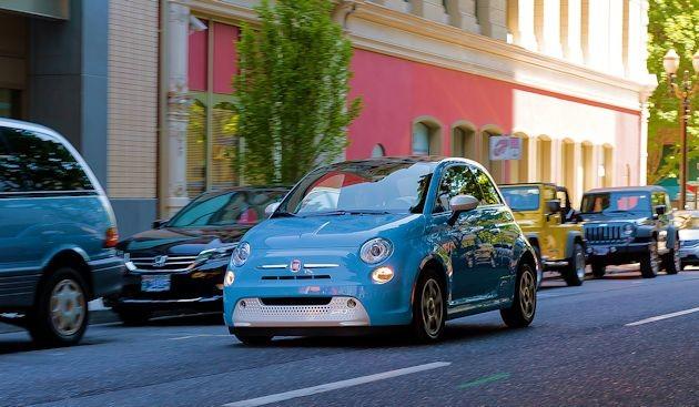 2015 Fiat 500 street