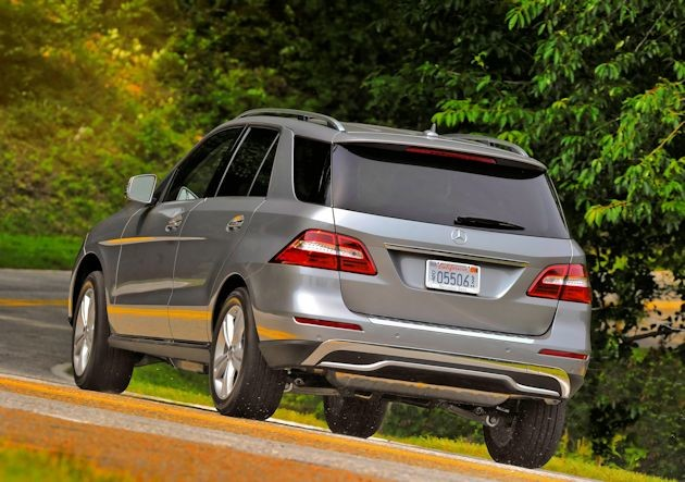 2015 Mercedes-Benz ML rear