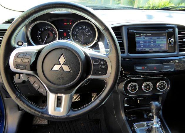 2015 Mitsubishi Lancer EVO dash