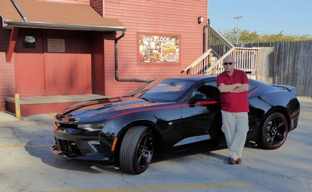2016 Chevrolet Camaro me stopping for dogs at Tony's