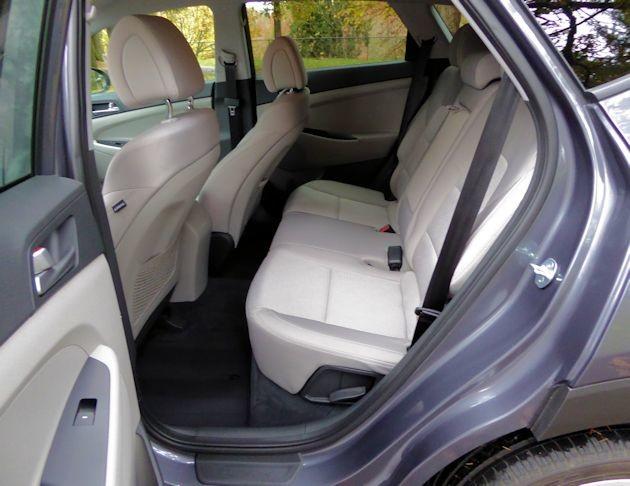 2016 Hyundai Tucson Sport rear seat