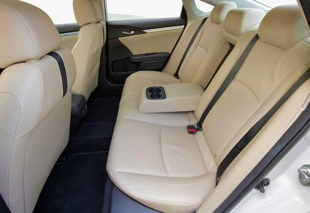 2016 Honda Civic rear seat