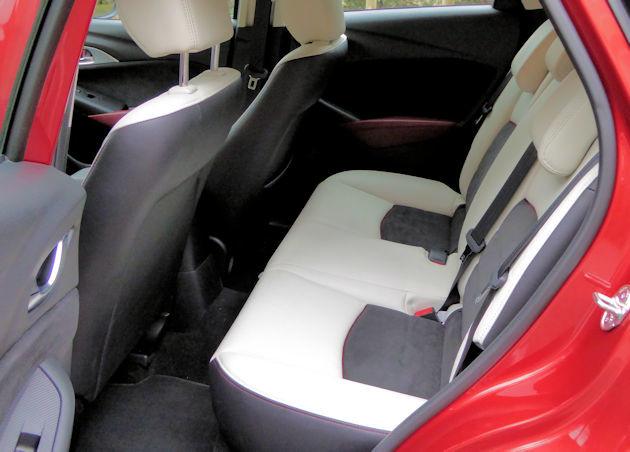 2016 Mazda CX-3 rear seat