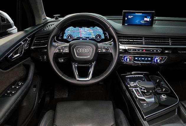 2017 Audi Q7 dash