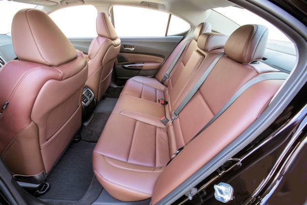 2016 Acura TLX rear seat