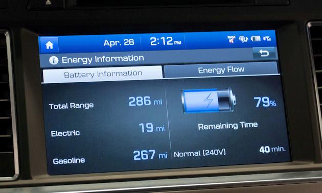 2016 Hyundai Sonata Plug-in screen