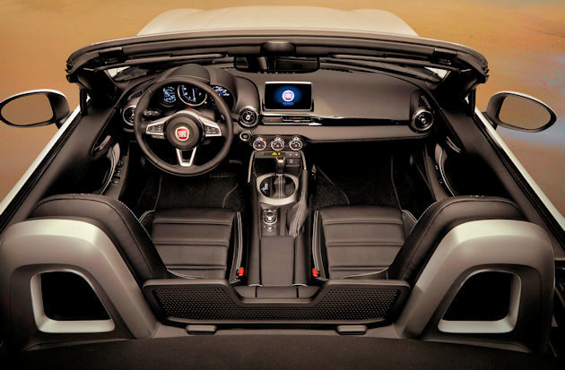 2017 Fiat Spider interior