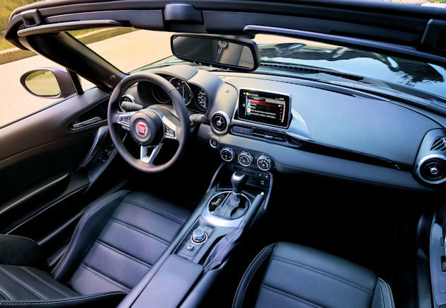 2017 Fiat Spider interior above