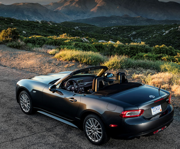 2017 Fiat Spider rear above