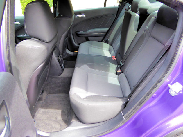 2016 Dodge Charger rear seat
