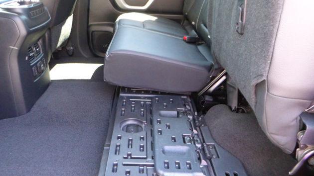 2016 Nissan Titan XD rear seat storage