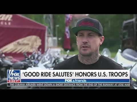 Mike Caudill on Fox and Friends with Indian Motorcycles 8211 Good Ride Rally Stuttgart 8211 May 22 2018nbsp