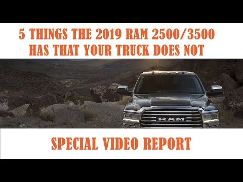 2019 Ram 25003500 8211 5 Things This Truck Has That Yours Does Notnbsp