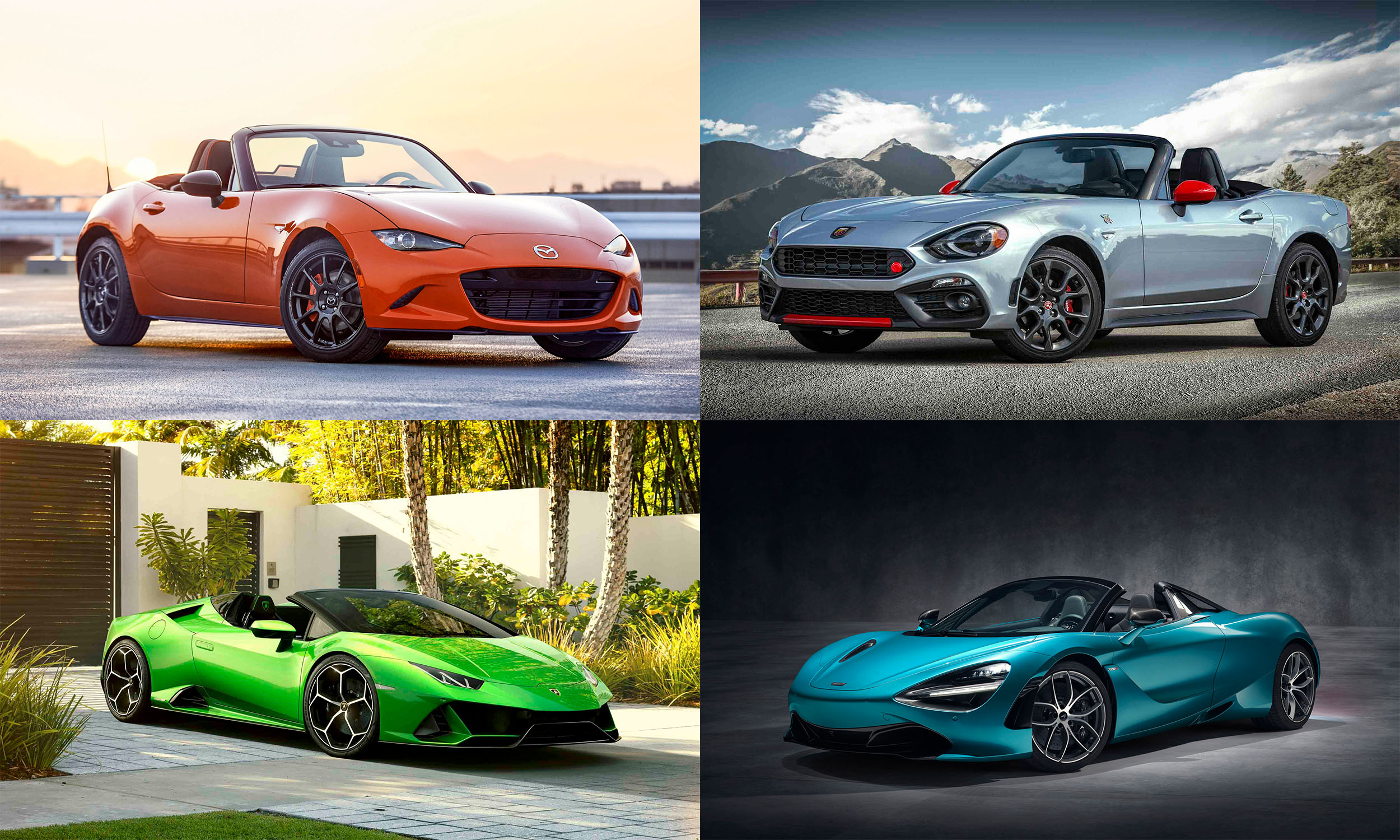 © Mazda North American Operations; FCA US LLC; © McLaren Automotive Limited; Automobili Lamborghini S.p.A.