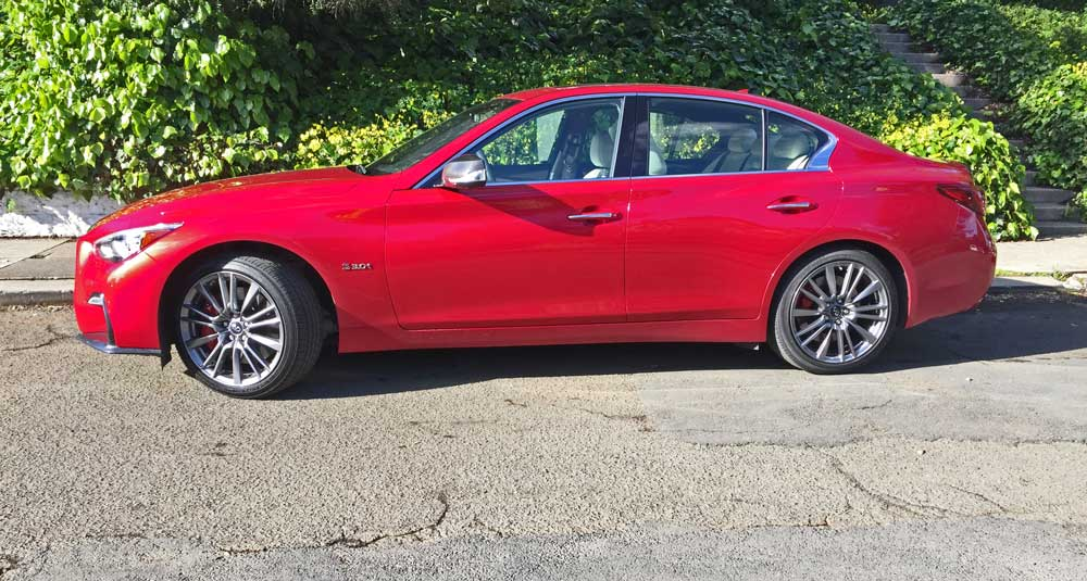 2019 Infiniti Q50 3.0t Red Sport 400 AWD Test Drive