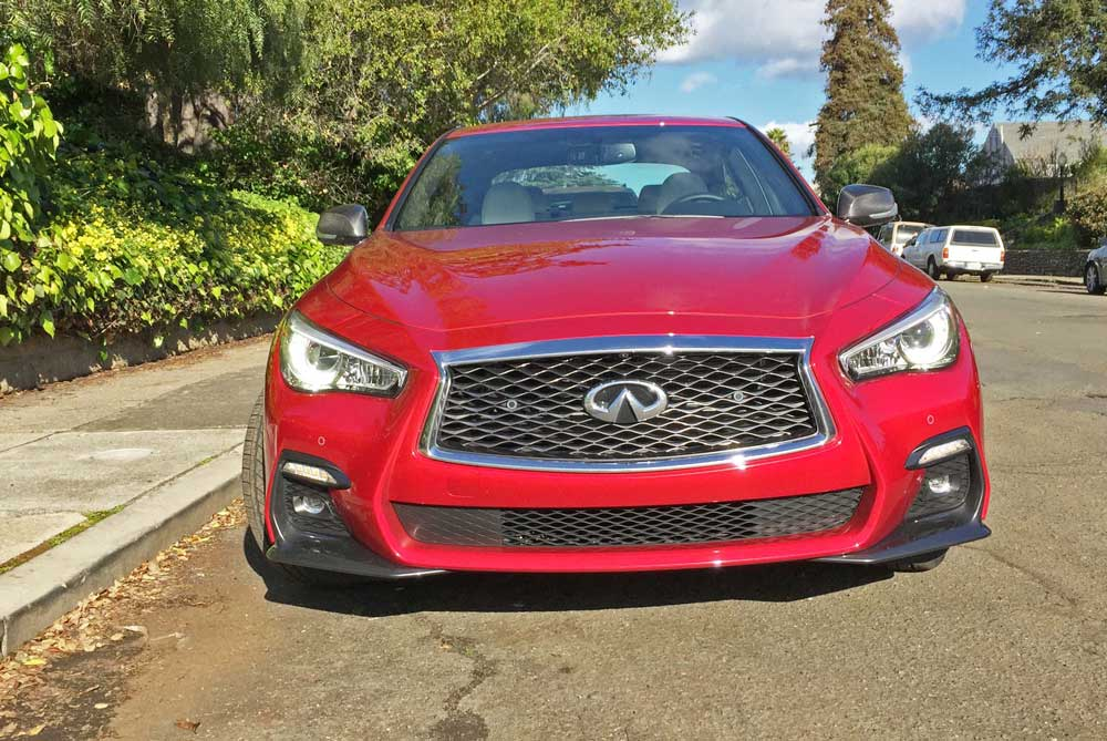 Infiniti-Q50-Red-Sport-400-AWD-Nose