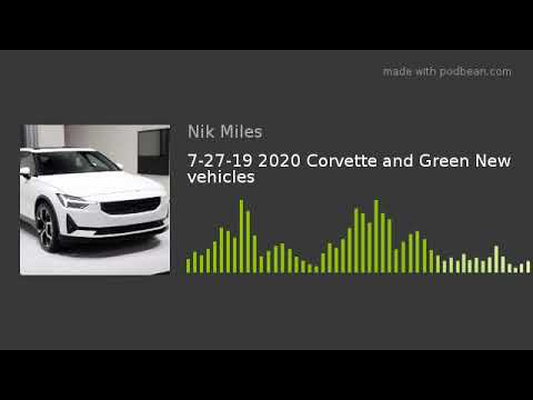 72719 2020 Corvette and Green New vehiclesnbsp