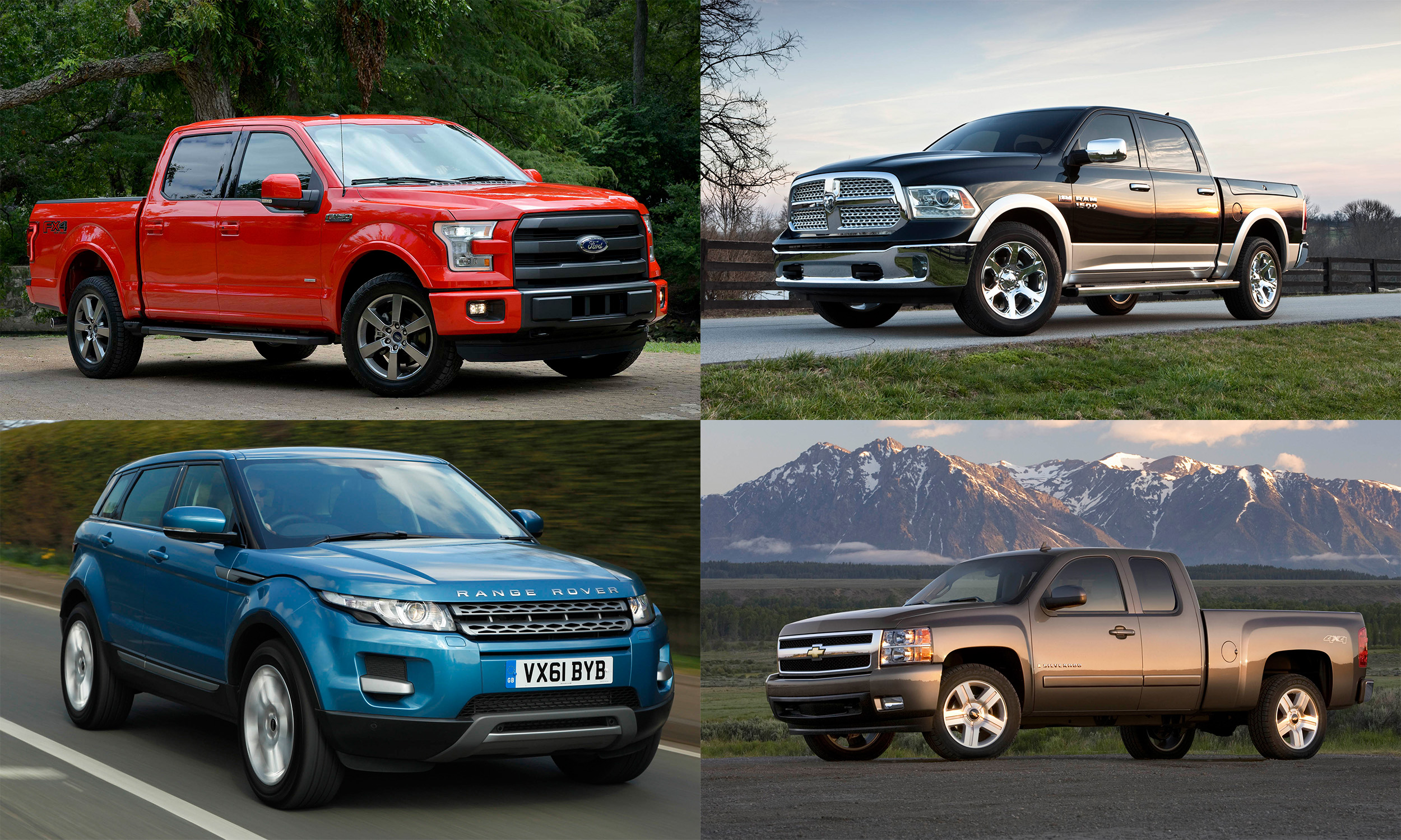 © Ford Motor Company; FCA US LLC; General Motors; Jaguar Land Rover North America