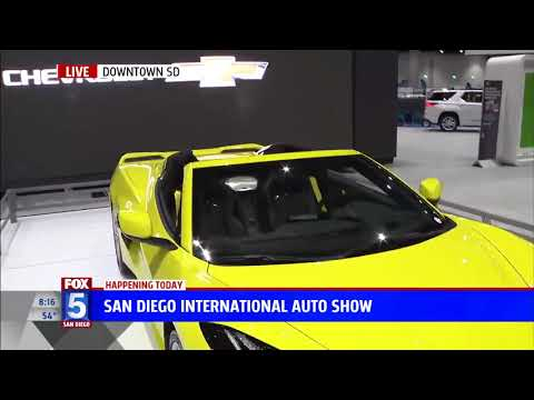 Nik Miles Corvette C8 San Diego International Auto Show KSWB Fox 5nbsp