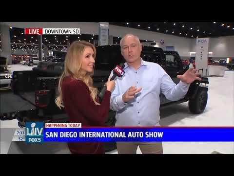 Nik Miles Jeep Gladiator San Diego International Auto Show KSWB Fox 5nbsp