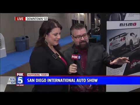 Nik Miles Nissan GTR San Diego International Auto Show KSWB Fox 5nbsp