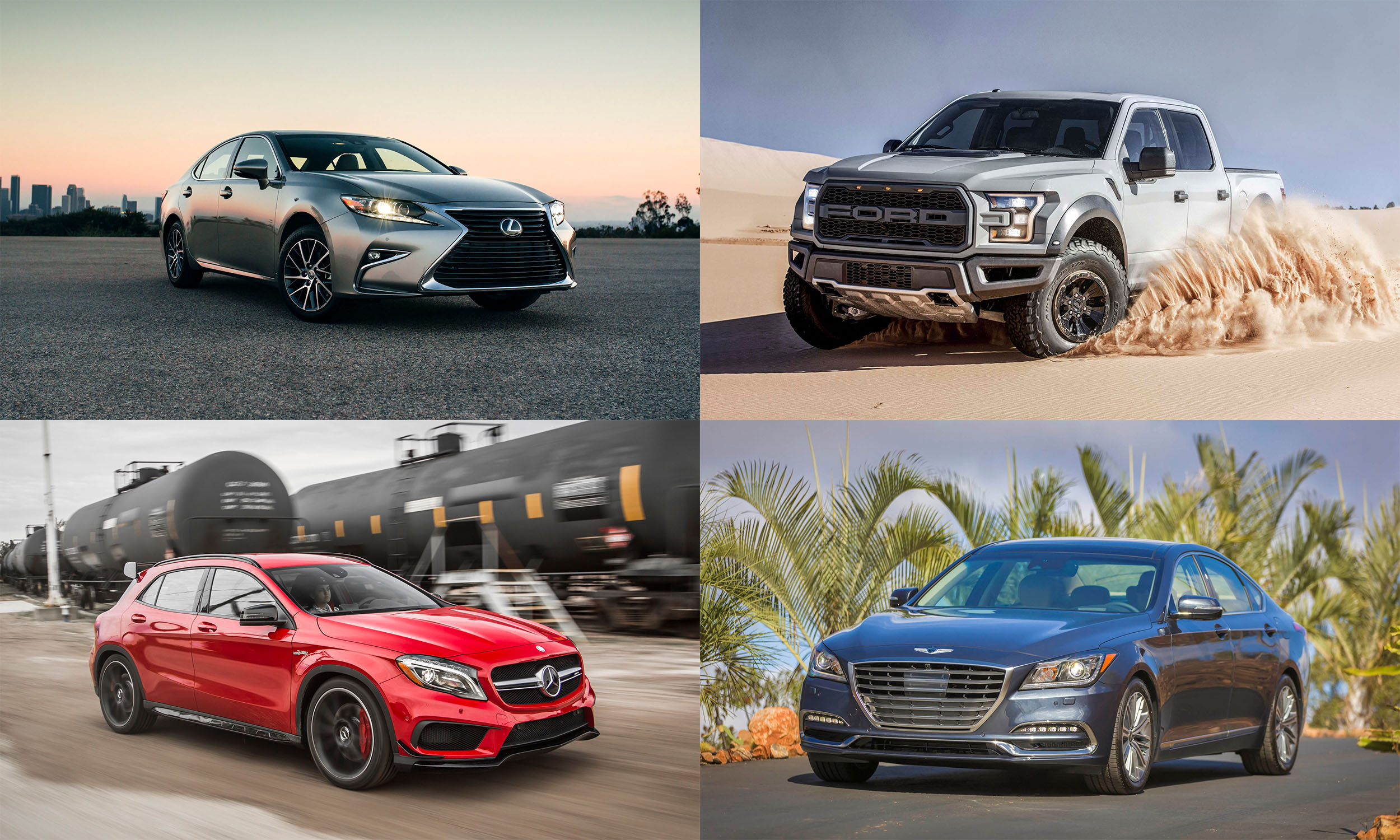 © Toyota Motor Sales USA, © Mercedes-Benz USA, © Ford Motor Company, © Hyundai Motor America