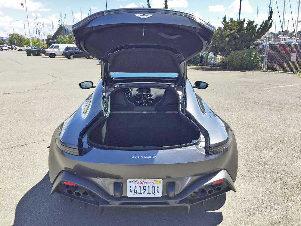 2020 Aston Martin Vantage Coupe trunk