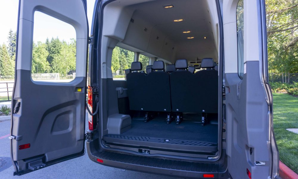 Trunk Space in the 2020 Ford Transit 350 AWD van