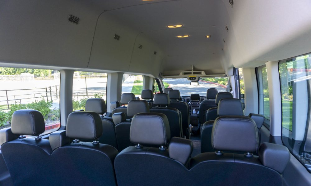 Inside the 2020 Ford Transit 350 AWD van