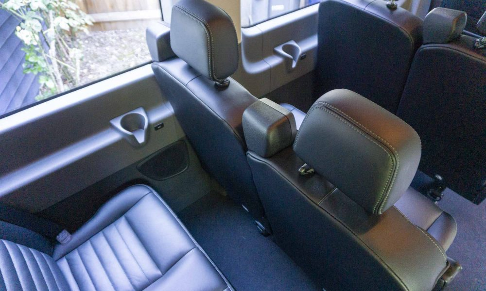 Seating Inside the 2020 Ford Transit 350 AWD van