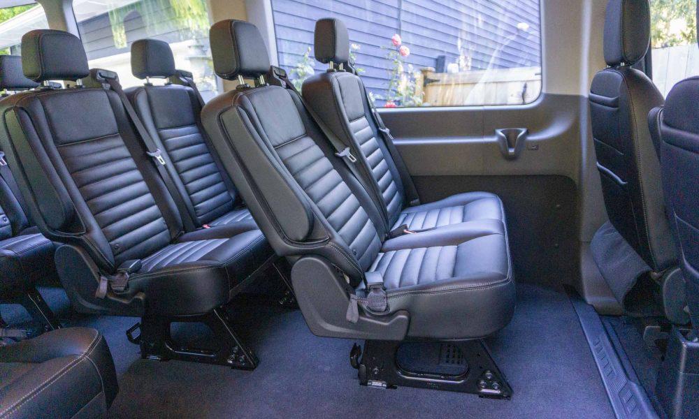 Inside the 2020 Ford Transit 350 AWD van