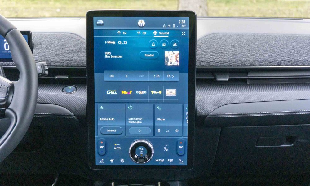 2021 Ford Mustang Mach-E massive touch screen