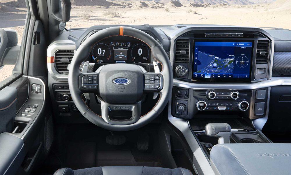 2021 Ford F-150 Raptor dash